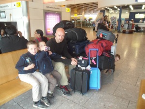 We have arrived in heathrow, and so has all our luggage